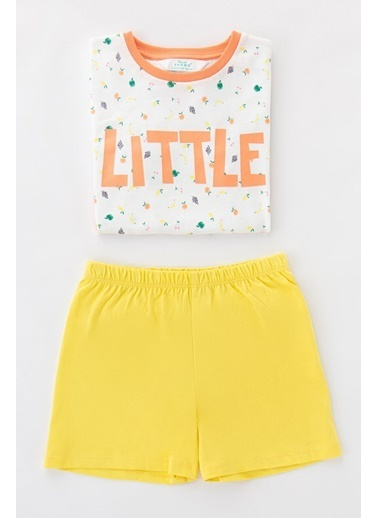 Penti Çok Renkli Kız Çocuk Little Fruits Ss 4Lu Pijama Takımı Renkli